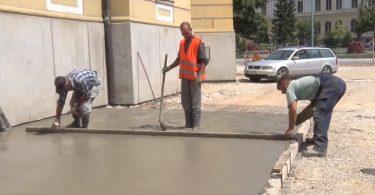 plato gradska kuca betoniranje